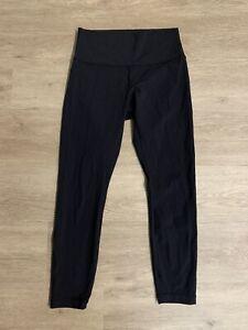 Lululemon Leggings 8 Black Tapered Logo Stretch