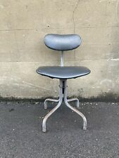 More details for vintage tan-sad industrial machinist's 1958/9 swivel chair, green and grey