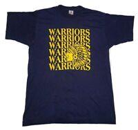 "VTG Native American ""Warriors"" t-shirt Single Stitch USA Made Large"