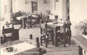 RPPC San Diego CA Restaurant Scene at Torrey Pines Lodge 1920s