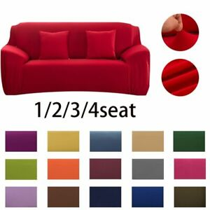 Sofa Cover Couch 1/2/3/4 Seater Stretch Tight Elastic Wrap Protector Waterproof