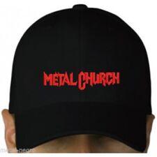 Metal Church black cap hook and loop closure heavy power thrash metal hat