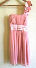 Sequin Hearts Women's Pink Prom Dress Flowers on Strap Size S
