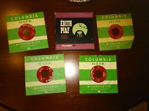 ÉDITH PIAF- SINGS AGAIN F 4-20   (BOX COLUMBIA F 4-20 USA) 4 SINGLES 45 RPM 8
