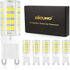 DiCUNO G9 4W LED Light Bulbs, 450LM, Equivalent to 40W-50W Halogen, Cool White 6