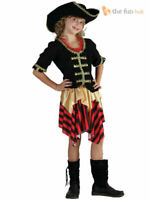 Childrens Caribbean Pirate Princess Girls Fancy Dress Kids Party Costume Outfit