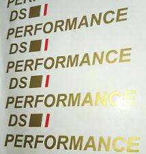 4 DS PERFORMANCE Vinyl Stickers DS3 DS4 DS5 Citroen Motorsport Rally Graphics