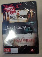 HORROR TRIPLE BILL DRIFTWOOD, DARK FLOORS & FINGERPRINTS 3 DVD SET NEW & SEALED