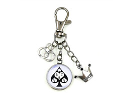 QUEEN OF SPADES SLAVE BBC SWINGER FETISH CUCKOLD KEYCHAIN FREE DELIVERY