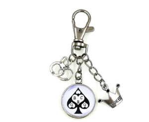 QUEEN OF SPADES SLAVE BBC HOTWIFE SWINGER FETISH CUCKOLD KEYCHAIN FREE DELIVERY