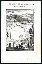 Antique Print-PL 117-MILITARY ENGINEERING-FORTIFICATION-LAVARDIN-Mallet-1685