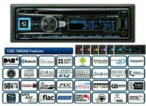 ALPINE CDE-196DAB CD USB DAB+ Bluetooth FLAC DSP Autoradio 6 Kanal RCA