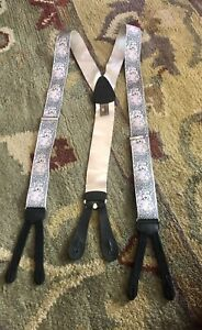 LIMITED EDITION TRAFALGAR SILK BUBBLES BRACES / SUSPENDERS CALVIN CURTIS