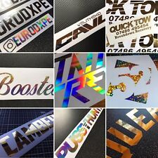 Custom Stickers Made In Chrome finitions-Message pour plus de détails VW AUDI BMW Jap