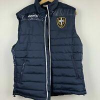 Macron Men's Blue FC11 Football Puffer Vest Size XL ~ Free AU Post!