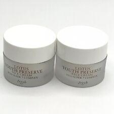 FRESH (2x) Lotus Youth Preserve Face Cream w/ Super 7 Complex .24 oz / 7 mL each