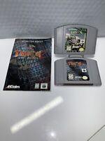 Turok 1 & 2 Dinosaur Hunter Seeds of Evil Nintendo 64 Authentic Tested N64