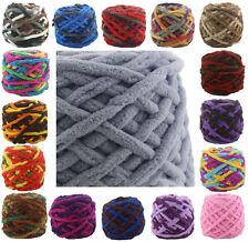 100G Chunky Crochet DK/DOUBLE chenille Milk velvet Knitting Wool yarn 42 COLOURS