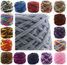 100G Chunky Crochet DK/DOUBLE chenille Milk velvet Knitting Wool yarn 42 COLOURS