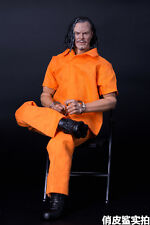 "1/6 Scale Hot Orange Prisoners clothes Uniform Set For 12"" Action Figure Toys"