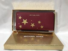 Michael Kors Illustrations Travel Continental Leather ZipAround Wallet $198 NWT
