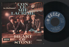 """7"""" ROLLING STONES CON LE MIE LACRIME (AS TEARS GO BY) / HEART OF STONE 1966 ITAL"""