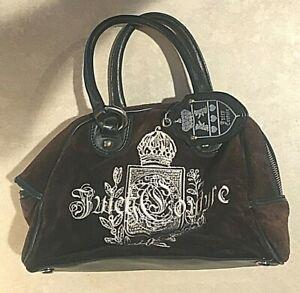 JUICY COUTURE BROWN VELVET PURSE HANDBAG SHOULDER BAG