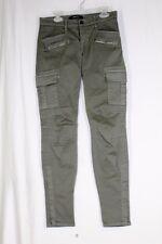J BRAND Grayson Skinny Cargo Pants Size 25 Vintage Olive Military 1550VK120
