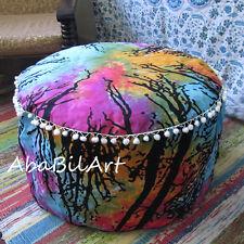"24"" Large Pouf Ottoman Multicolored Mandala Pouf Foot Stool Floor Decor Pillow"
