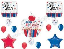 CUPCAKE 4th of July Balloons Decoration Supplies Picnic Cookout Patriotic