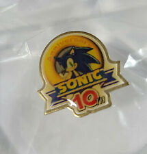 Sonic 10th Anniversary Pin E3 Memorabilia Promo RARE Sega Genesis the Hedgehog