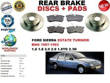 FOR FORD SIERRA TURNIER ESTATE BNG 87-93 REAR BRAKE DISCS SET + BRAKE PADS KIT