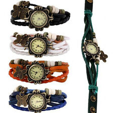 New Wholesale Lot of 5pcs Womens Girls Butterfly Bracelet Wrist Watches Hot Sale