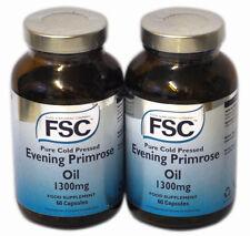 2 x FSC Pure Cold Pressed Evening Primrose Oil 1300mg  60 Capsules