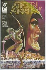 **GREEN ARROW #1**(FEB 1988, DC)**1ST PRINT**MIKE GRELL**VF**WB TV SERIES**HOT**