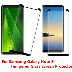 Case Friendly For Samsung Galaxy Note 8 Tempered Glass Screen Protector Lot