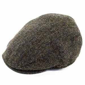 Failsworth Hats Stornoway Harris Tweed Flat Cap - Brown