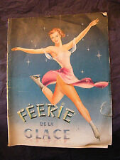 Programme Spectacle Féerie de la Glace 1953 Patinage Artistique