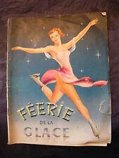 Programme Spectacle Féerie de la Glace 1953 Patinage Artistique