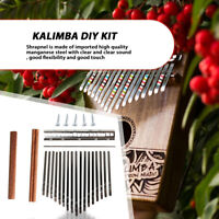 17-Key Kalimba Thumb Piano Steel Key+Wood Bridge+Steel Musical Instrument Part