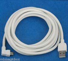 3M Left Angle Micro USB Cable WHITE 4 Motorola Moto G X Droid Razr M HD Maxx I V