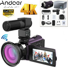 4K 1080P 48MP WiFi Digital Video Camera Camcorder 16XDigital Zoom IR Infrared DV