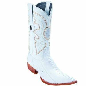 Los Altos Boots Ostrich Leg 3X Toe Boot LAB-950528 Size 8 EE