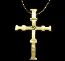 Cross Faith God Bless you Necklace Designer Pendant 24k GP Xmas Gift Jewelry New
