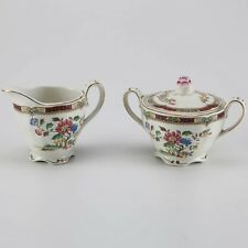 Grindley Royal Petal Sugar & Creamer Marlborough Connaught Style