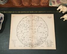 Rare Original 1880 Antique Proctor Celestial Astronomy STAR MAP Leo Virgo Libra