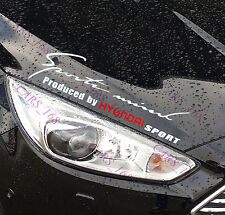 ☆New☆ Headlight Eyebrow Car Stickers Decals Graphics Vinyl For Hyundai (White)