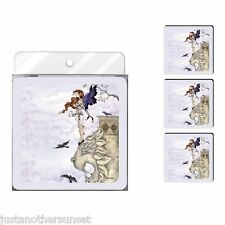Amy Brown Neoprene Foam Printed Coasters, Waiting Fairy New Set of 4