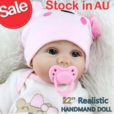 "Realistic Reborn Boy Doll 22"" Lifelike Newborn Baby Dolls Handmade Xmas Gifts UK"