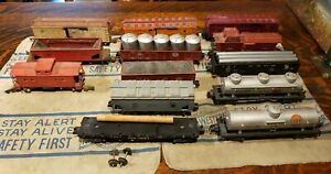 American Flyer S Scale Postwar 13 Piece Freight Car Lot